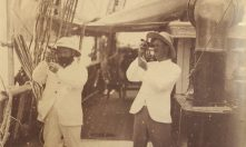 T.A.B and Mr Kindred taking sights, Indian Ocean. Collection Hastings Library.