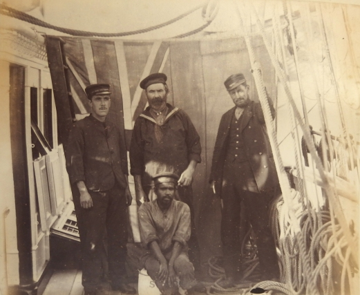 Engineers and Staff on board the Sunbeam. Collection Hastings Library.