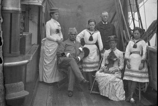 Brasseys with Abu Bakar of Johore on board the Sunbeam 1877
